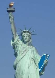Lady Liberty with a Document Liberation tablet